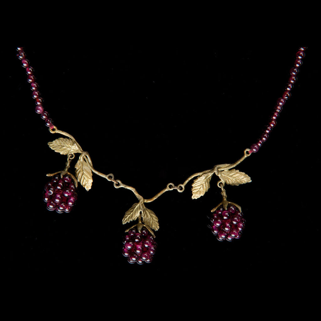 Michael Michaud Raspberry Necklace Close Up
