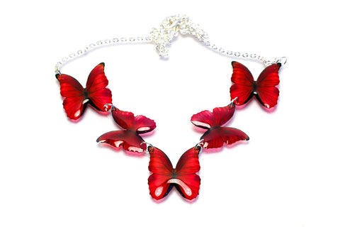 Magic Accessories Red Morpho Necklace