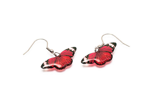 Acdria Small Tiger Butterfly Earrings In Red