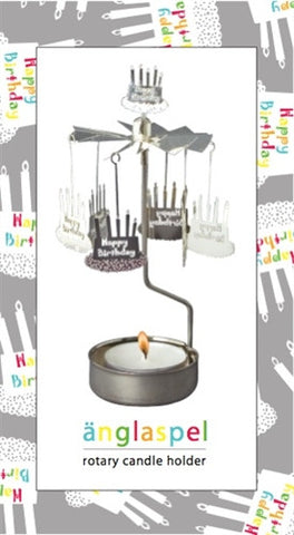Happy Birthday Rotary Candle Holder