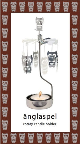 Owl Rotary Candle Holder