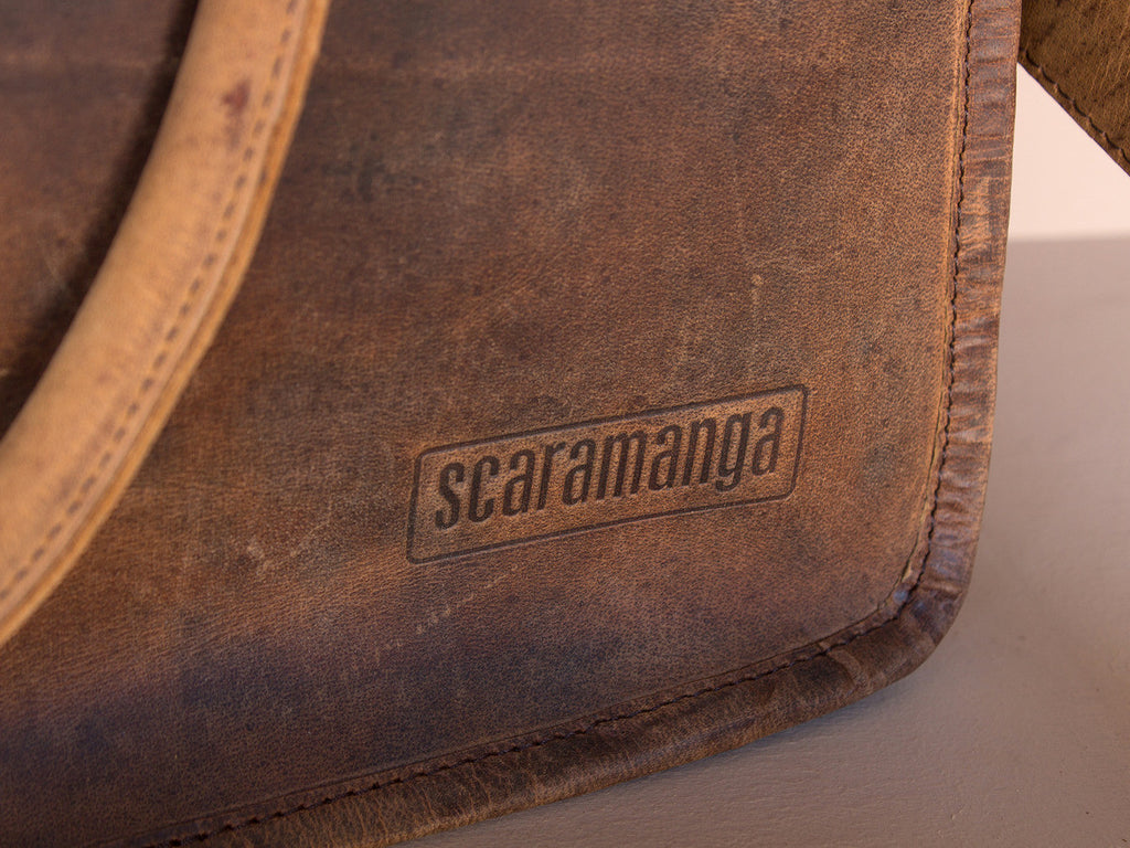 Scaramanga Small Leather Travel Holdall