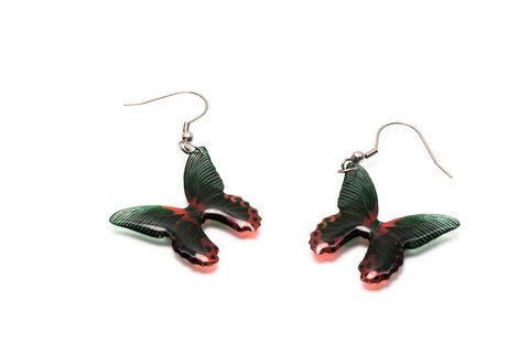 Acdria Scarlet Butterfly Earrings