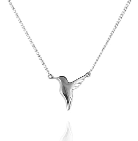 Jana Reinhardt Silver Small Hummingbird Necklace