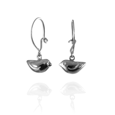 Jana Reinhardt Silver Tiny Sparrow Hook Earrings