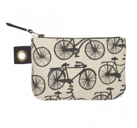 Cubic Small Bicycle Zipper Pouch