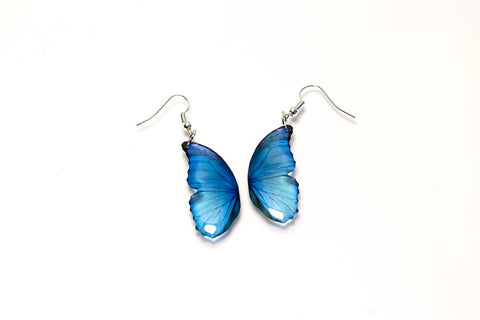 Magic Accessories Blue Morpho Small Half Wing Earrings