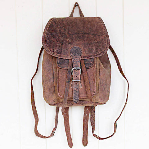 Scaramanga Buffalo Leather Mini Boho Backpack