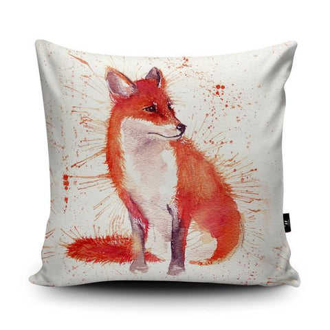 Wraptious Splatter Fox Cushion