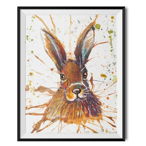 Wraptious Splatter Hare A3 Print