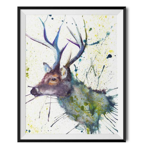 Wraptious Splatter Stag A3 Print