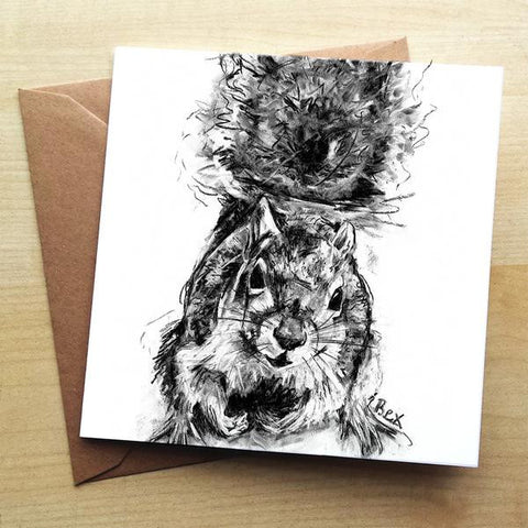 Wraptious Squirrel Greeting Card