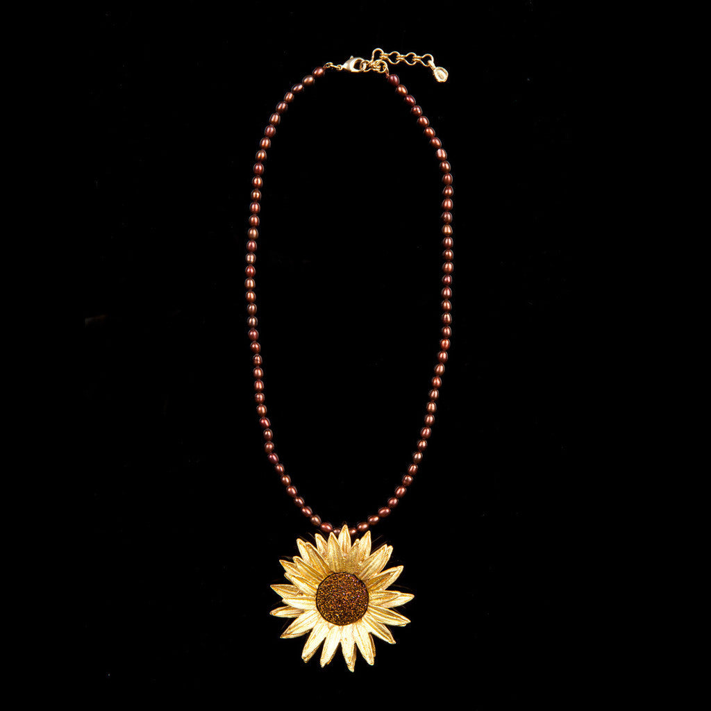 Michael-Michaud-Sunflower-Statement-Necklace