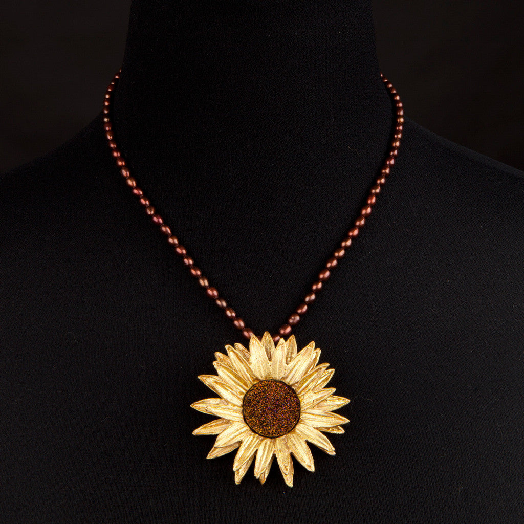 Michael Michaud Sunflower Statement Necklace