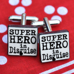 Super Hero In Disguise Cufflinks Mary Fellows