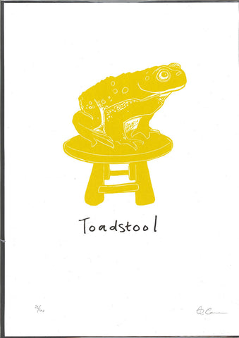 toad stool cardinky print