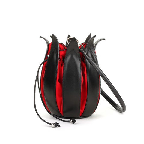 by-lin black/red tulip bag