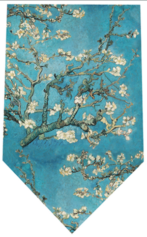 Fox And Chave Van Gogh Almond Blossom Silk Tie