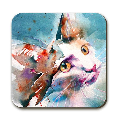 Wraptious Watercolour Cat Coaster