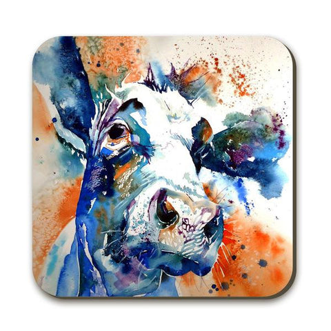 Wraptious Watercolour Cow Coaster