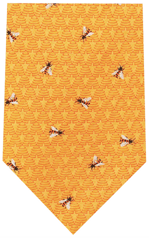 Fox And Chave Yellow Bees Silk Tie