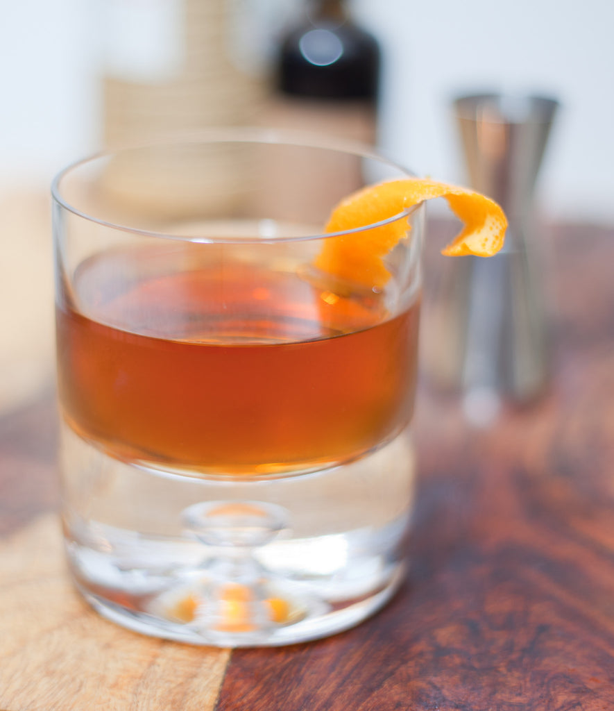 Martinez Cocktail with Orange Hop Bitters