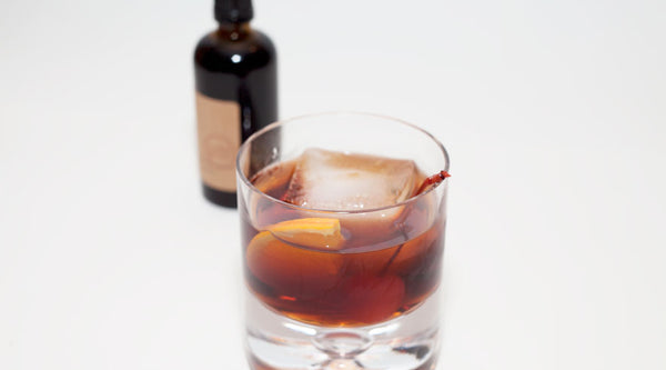 Old Fashioned Cocktail Recipe with Homemade Cherry Walnut Bitters