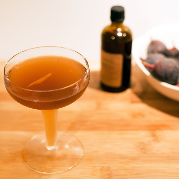 Bourbon Fig Cocktail Recipe with Dash Bitters