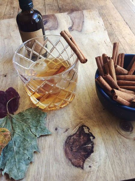 old fashioned cocktail cinnamon simple syrup fall