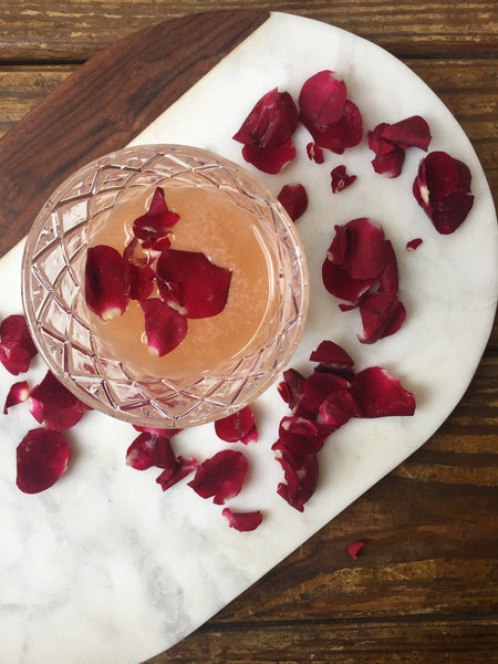 Rose and Rye Whiskey Cocktail
