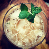 bourbon cocktail mint julep with bitters