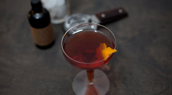 Boulevardier Cocktail Recipe with Orange Hop Bitters