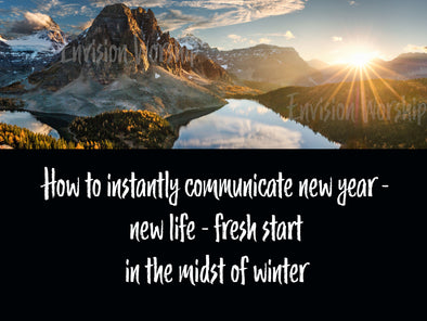 New Year Images Are Tricky - Church PowerPoints