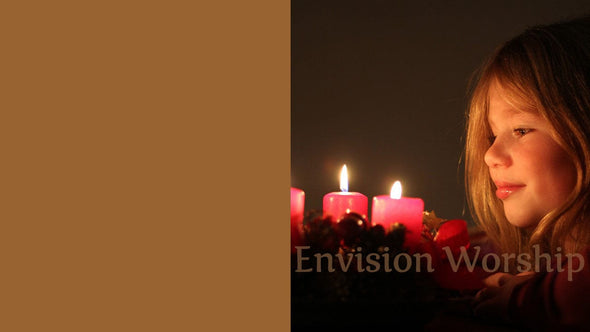 Advent candles PowerPoint Slides