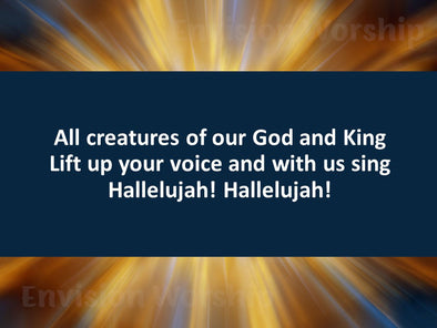 All Creatures of Our God and King slides with lyrics