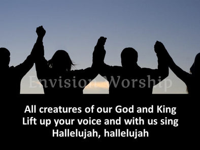All Creatures of Our God and King worship slides with lyrics