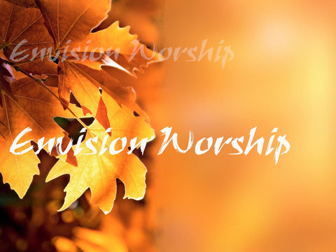 Gorgeous fall colors church PowerPoint light up the screens and set the mood for a harvest celebration, thanksgiving or simply an autumn worship service.