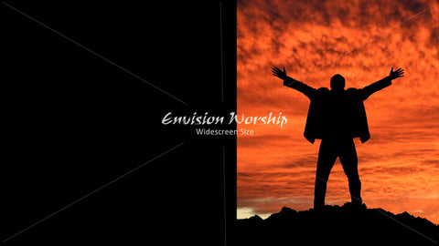 Praise, Mountaintop image,  Church PowerPoint Background Slide