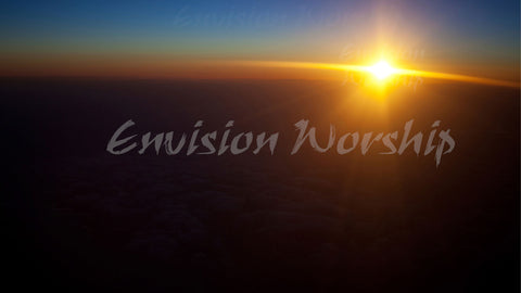 Striking church background of a sun bursting over a dark horizon instantly communicates Christ's everlasting hope! Stunning Church PowerPoint slide and Christian background.