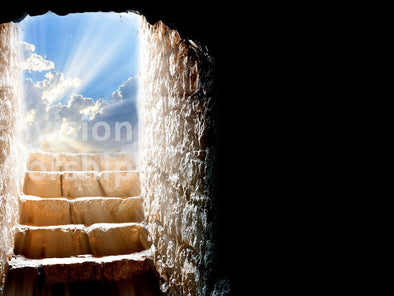 Empty tomb church slide