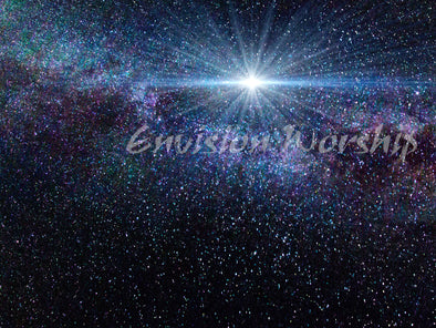 Gorgeous Star of Bethlehem Worship Slide and Christmas Eve Church PowerPoint Template
