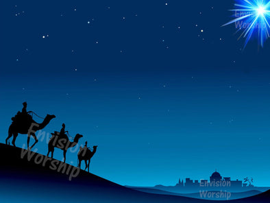 Three Kings Epiphany PowerPoint instantly communicates acting in faith and finding God.
