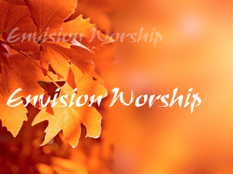 Gorgeous fall leaves church slide set the mood for a harvest celebration, thanksgiving or simply an autumn worship service.