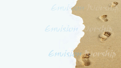 Awesome footprints in the sand church PowerPoint - you'll love it!