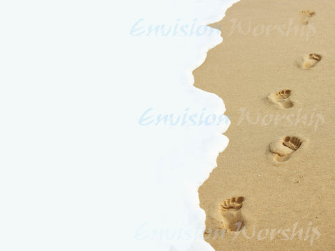 Very cool footprints in the sand church PowerPoint - you'll love it!