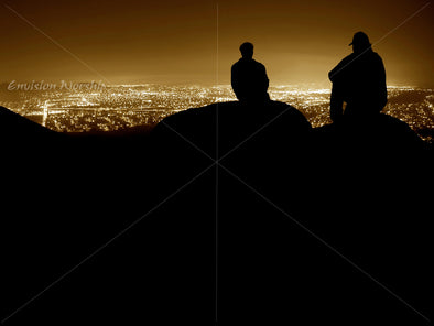 Best friend image, city lights image, worship PowerPoint image
