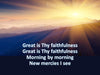 Great is Thy Faithfulness church PowerPoint