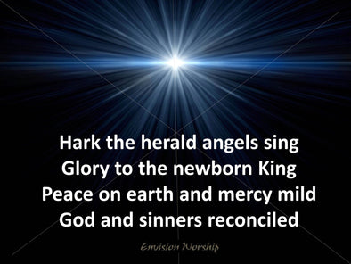Gorgeous and powerful Hark the Herald Angel Sing church slide.