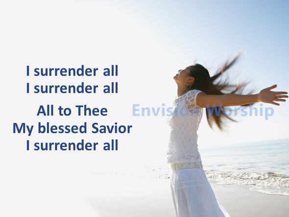 I Surrender All Church PowerPoint with lyrics