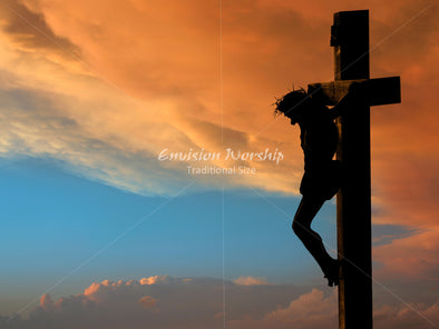 Crucifix Christian Background Christ And Stations Of The Cross PowerPoint That Is Striking